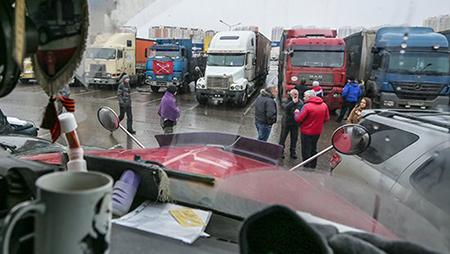Протестующие дальнобойщики объявили о создании нового профсоюза