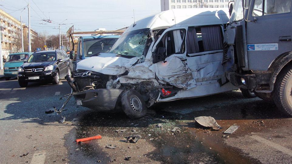 Девушка-водитель спровоцировала крупное ДТП в Минске