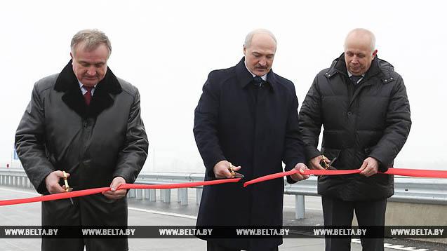 Лукашенко торжественно открыл завершенную вторую Минскую кольцевую автодорогу