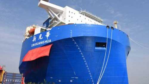 В Китае построили крупное судно для перевозки тяжеловесных грузов