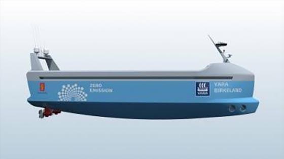 Норвегия планирует создать беспилотное электрическое грузовое судно