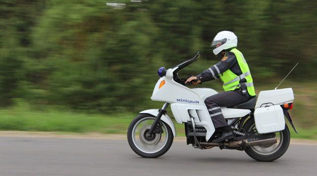 Инспекторы ГАИ на мотоциклах приступили к патрулированию дорог в Гродненской области