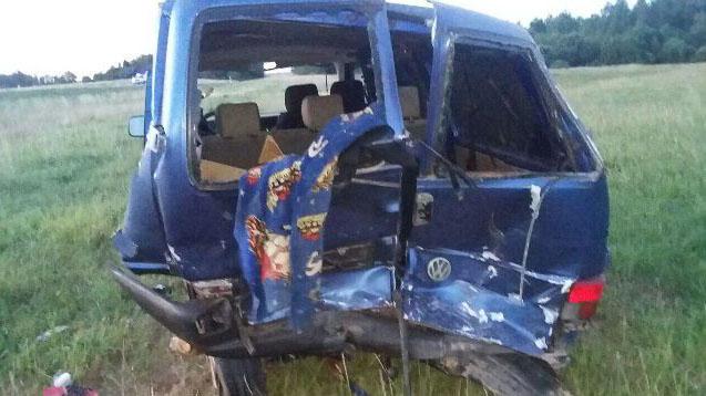 Водитель микроавтобуса погиб в ДТП под Лиозно