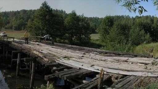 Обрушился деревянный мост через реку Тебза