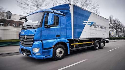 Электрический грузовик eActros, автогиганта Mercedes-Benz пошел на второй этап испытаний