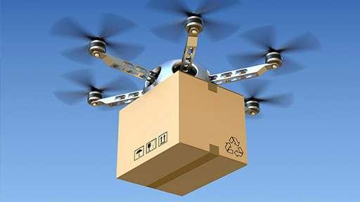 В скором времени грузы будут доставляться дронами