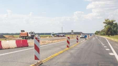 На автодороге М6 около Скиделя действую ограничения скоростного режима