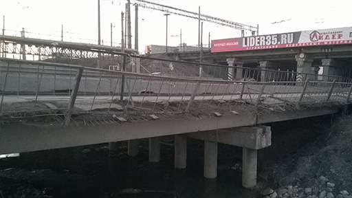 Начат капитальный ремонт путепровода через реку Шограш под Вологдой