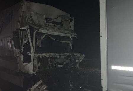 Два грузовика столкнулись вДубровенском районе, пострадал один водитель