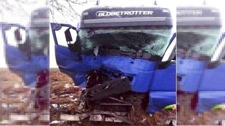 Странное происшествие наБраславщине: дальнобойщик после двойного ДТП пытался завладеть автомобилем ГАИ