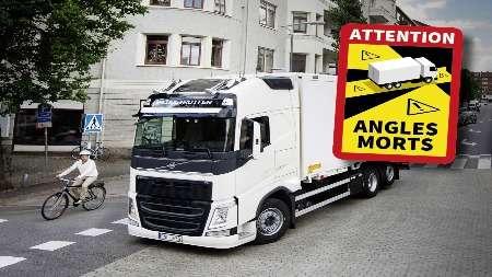 ВоФранции вступил всилу закон обоборудовании грузовиков знаками, указывающими положение слепых зон